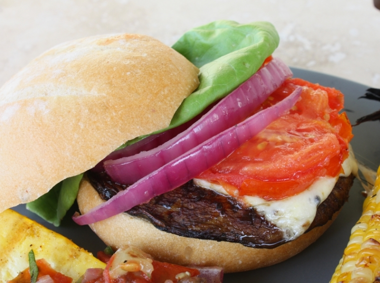 portobello grilled burger